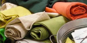 Rouleaux de tissus coton
